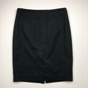 J. Crew Black Wool 'The Pencil Skirt'